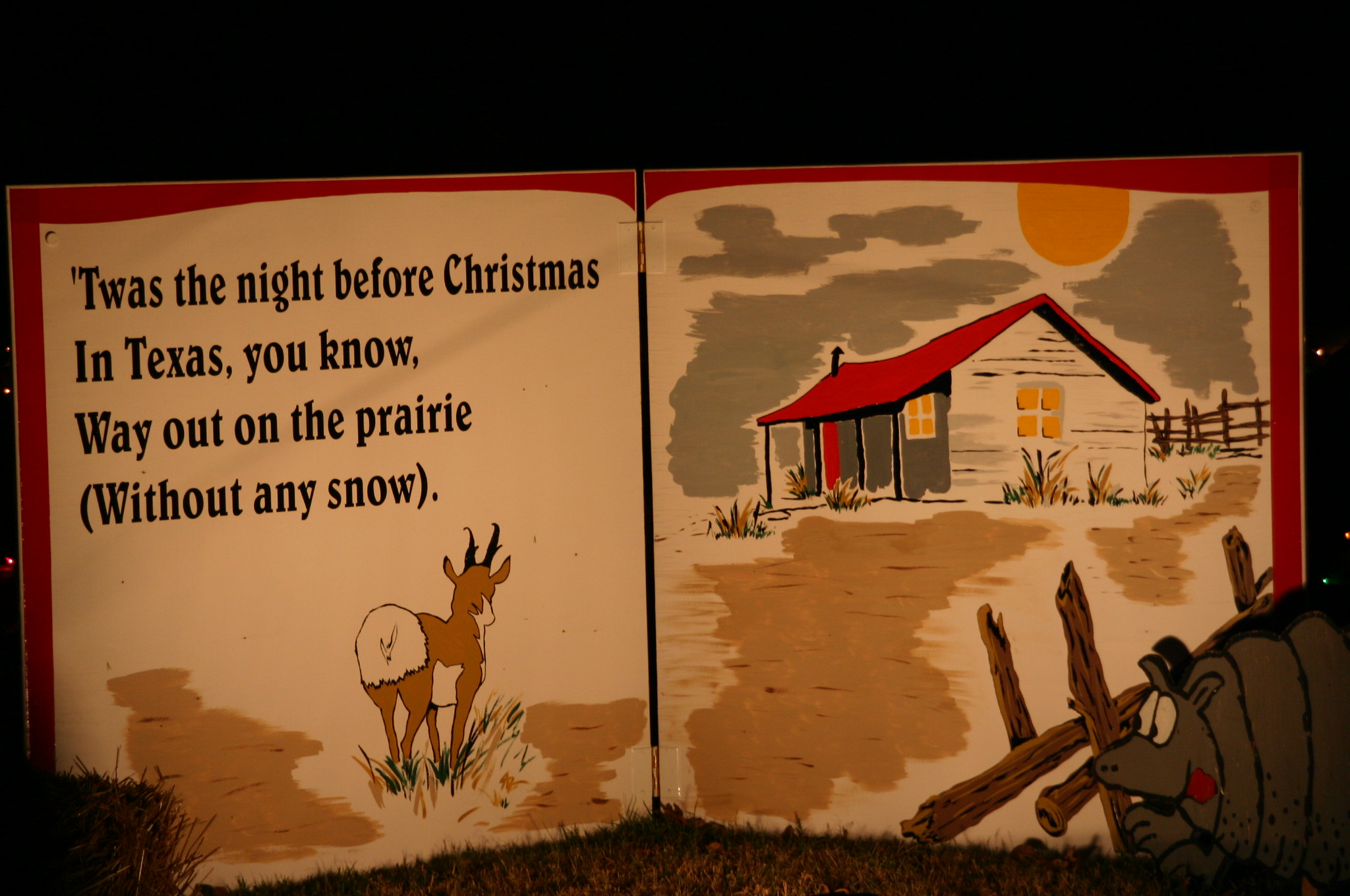twas the night before christmas in texas you you know way out on